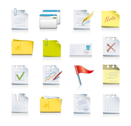 files and folders icon set