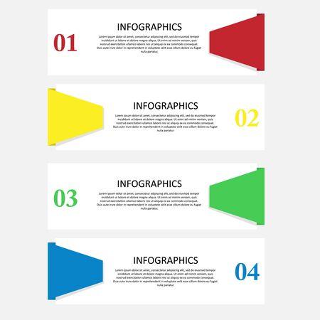 Illustration pour Illustration vector design of infographic template - image libre de droit