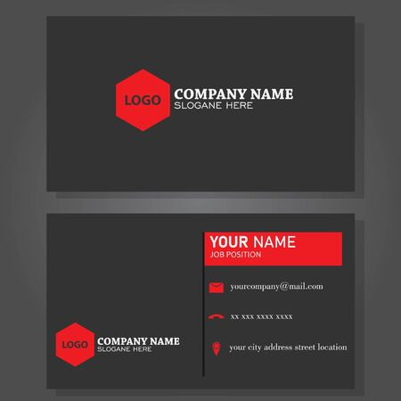 Illustration for Illustration vector design of business card - Royalty Free Image