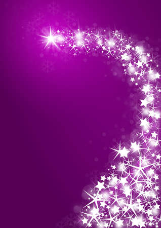 Purple background with bright stars