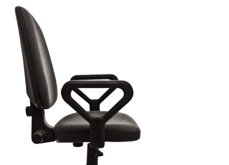 office chair seat isolated on white background