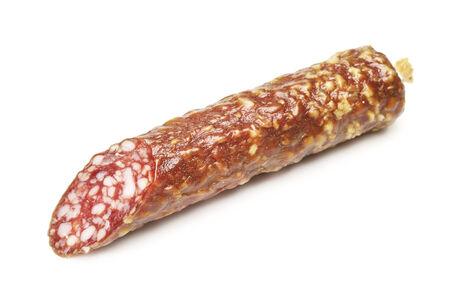 smocked sausage loaf, isolated on white background