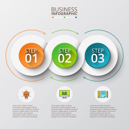 Illustration pour Abstract infographics number options template. illustration. Can be used for workflow layout, diagram, business step options,  web design - image libre de droit