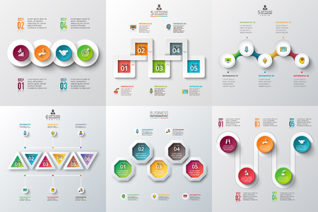 Ilustración de Abstract infographics number options template. illustration. Can be used for workflow layout, diagram, business step options, banner, web design - Imagen libre de derechos