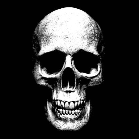 Photo pour skull 3d render - image libre de droit