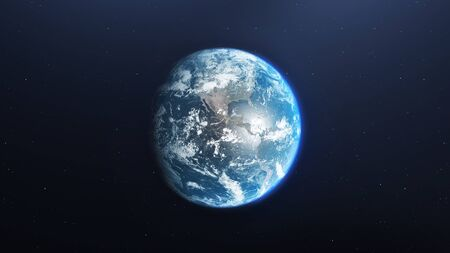 Foto de Earth planet viewed from space, 3d render of planet Earth, elements of this image provided by NASA - Imagen libre de derechos