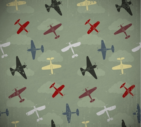 Retro Aircraft Pattern