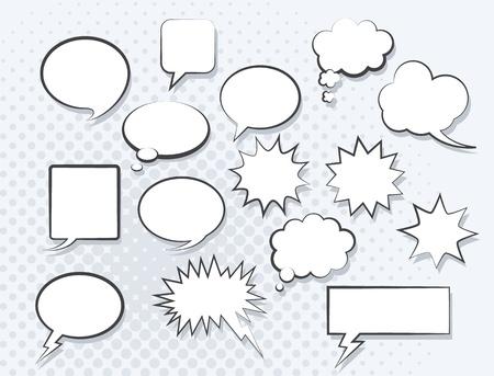 Illustration pour Set of comic speech bubbles. Vector image. - image libre de droit