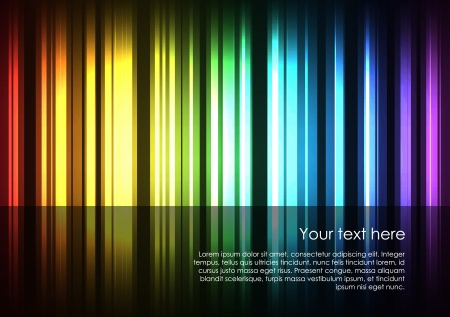 Abstract glowing stripes of different colors form the full spectrum of colors background.
