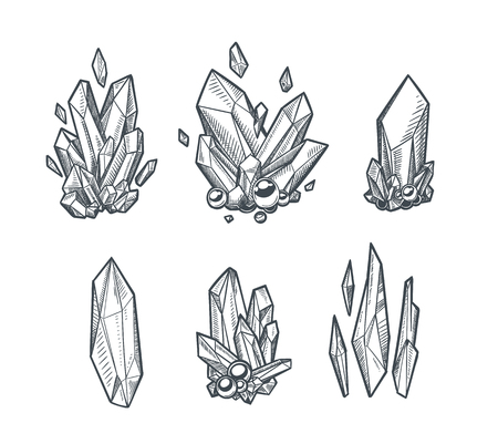 Illustration pour A Vector Crystals Drawing isolated on plain background. - image libre de droit