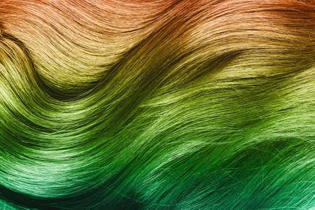 Photo pour Close up of shiny multicolored hair. - image libre de droit