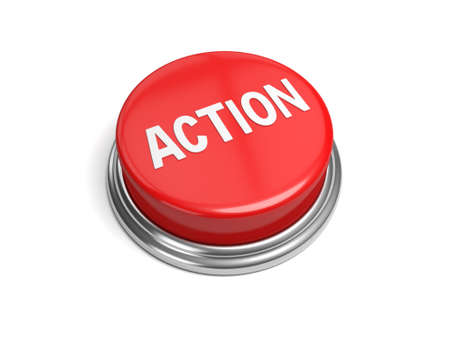 A red button with the word action on it