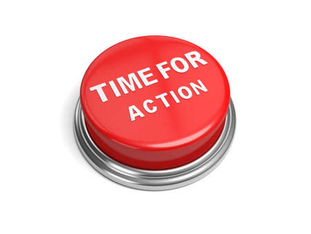 A red button with the word time for action on it
