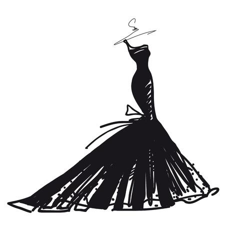 Ilustración de wedding dress vector - Imagen libre de derechos