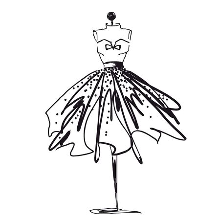 Illustration pour dress design - image libre de droit