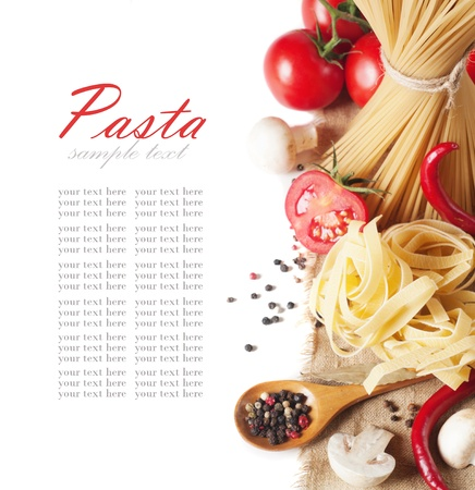 italian pasta with tomato and mushrooms