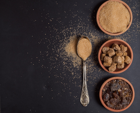 Photo for Raw Organic Cane Sugar - Royalty Free Image