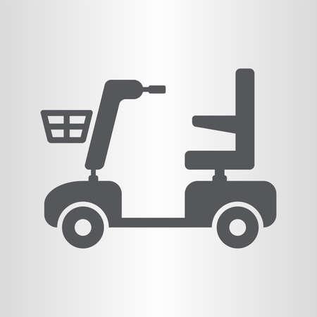 Illustration pour Mobility scooter icon - image libre de droit