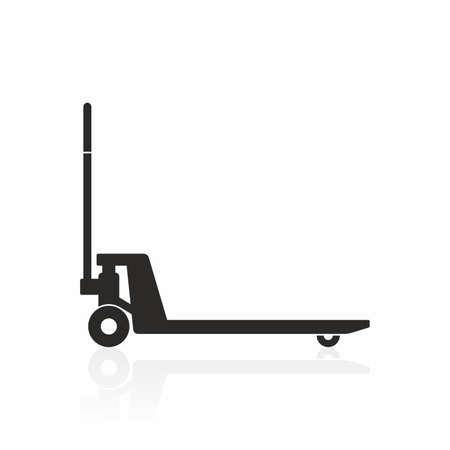 Ilustración de Hand pallet truck icon - Imagen libre de derechos