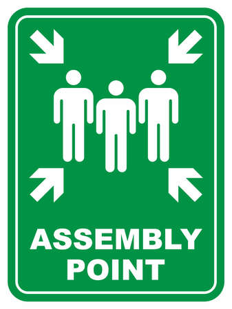 Illustration pour Assembly point - image libre de droit