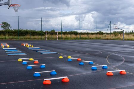 Foto per training equipment athletics for children, material for training class - Immagine Royalty Free