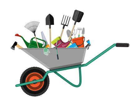 Illustration for Gardening tools set. Equipment for garden - Royalty Free Image
