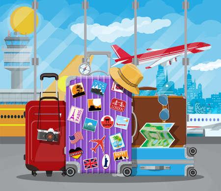 Ilustración de International airport concept. - Imagen libre de derechos