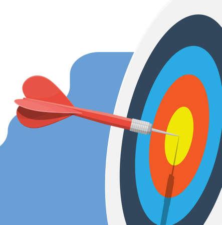 Illustration pour Target with arrow in center. Goal setting. - image libre de droit