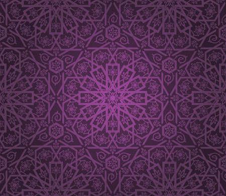 Decorative seamless pattern. Retro background.