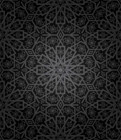 Decorative seamless pattern. Retro background