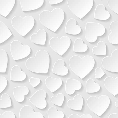 Ilustración de Seamless pattern with hearts - Imagen libre de derechos