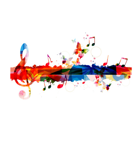Colorful G-clef background