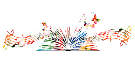 Colorful book with butterflies