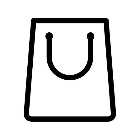 Ilustración de Shopping bag outline icon. Paper bag simple line vector icon. Pixel Perfect Vector Graphics - Imagen libre de derechos