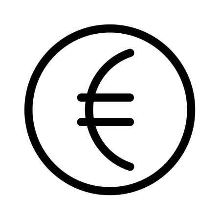 Ilustración de Euro vector icon in flat design. Vector illustration of the euro symbol. - Imagen libre de derechos