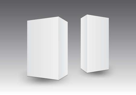 Illustration pour White 3D packaging box vector illustration, packaging design, product design - image libre de droit