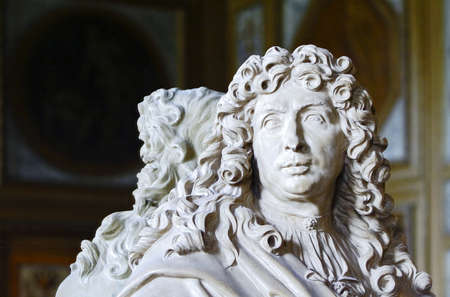 The marble bust of Charles Le Brun