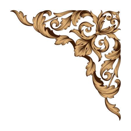 Ilustración de Classical baroque border icon. - Imagen libre de derechos