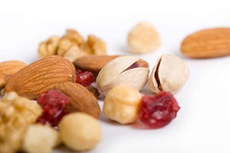closeup of various raw dried fruit