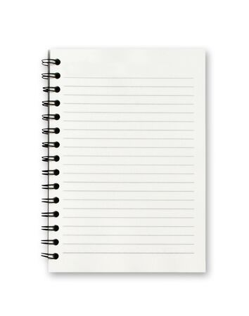 Photo for Blank notebook on white background.  - Royalty Free Image