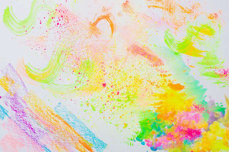 Lovely colorful creative abstract art drawn on a white background
