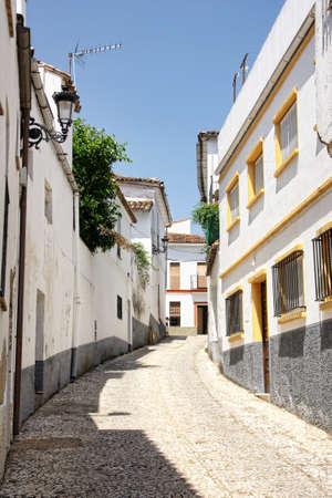 Streets of the town of Almonaster la Real in the Serrania de Huelva