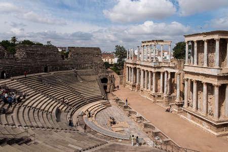 Beautiful Roman theater in the city of Mrida, Extremadura