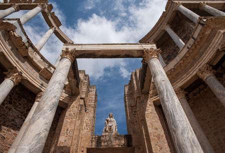 Roman theater in the city of Mrida, Extremadura
