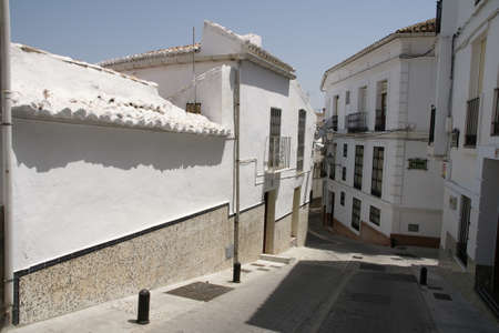 Streets of the town of Alozaina in the province of Mlaga, Andalusia