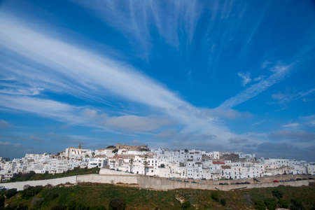 Street in the town of Vejer de la Frontera and one of the so-called white towns of Andalusia