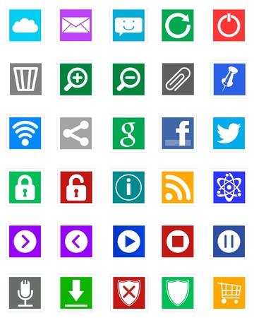 Photo pour Icons - Metro Style - image libre de droit