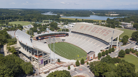 August 09, 2018 - Clemson, South Carolina, USA: Frank Howard Field at Clemson Memorial Stadium, popularly known as Death Valley, is home to the Clemson Tigers, an NCAA Division I FBS football team located in Clemson, South Carolina.
