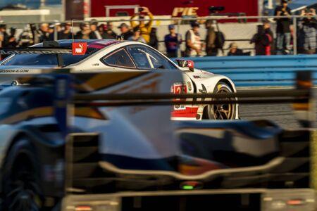 The BMW Team RLL BMW M8 GTE car  race for the Rolex 24 At Daytona at Daytona International Speedway in Daytona Beach, Florida.