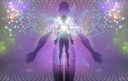 Spiritual Human Awakening or Enlightment Concept is great background image for any purposes.